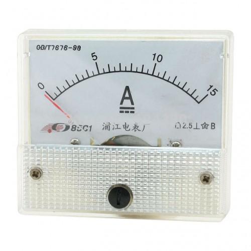Αμπερόμετρο αναλογικό DC 0-15A