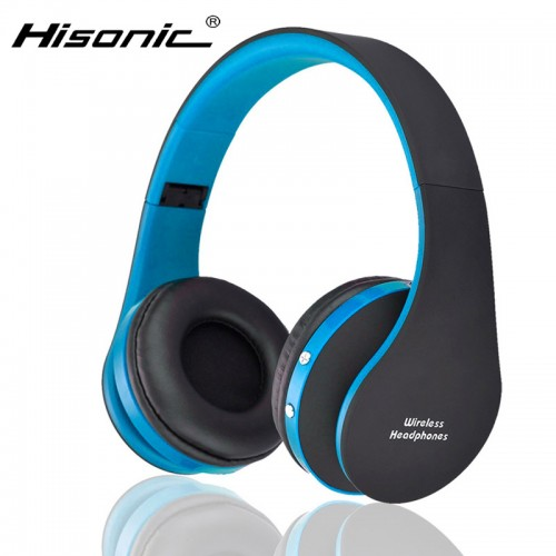 Hisonic Bluetooth Headset Wireless Headphones SUN8252 Γαλάζιο