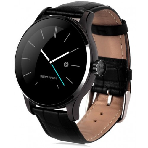 Lemfo K88H Smart Watch Bluetooth For apple huawei IOS Android. Μαύρο Δέρμα