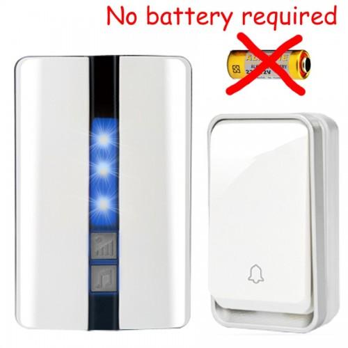 Κουδούνι πόρτας ασύρματο 150M λειτουργεί χωρίς μπαταρίες με ένα πομπό και ένα δέκτη K33WW 11