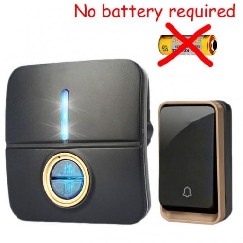 Κουδούνι πόρτας ασύρματο 150M λειτουργεί χωρίς μπαταρίες με ένα πομπό και ένα δέκτη k190BB 11