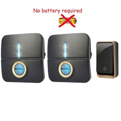 Κουδούνι πόρτας ασύρματο 150M λειτουργεί χωρίς μπαταρίες με ένα πομπό και δύο δέκτες k190BB 12