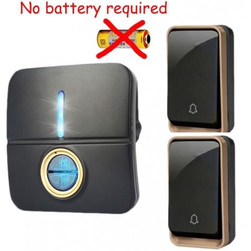 Κουδούνι πόρτας ασύρματο 150M λειτουργεί χωρίς μπαταρίες με δύο πομπούς και ένα δέκτη k190BB 21