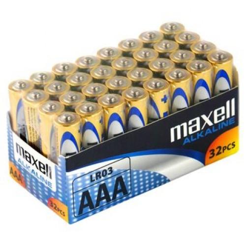 Μπαταρία Αλκαλική Maxell LR03 size AAA 1.5 V Τεμ. 32