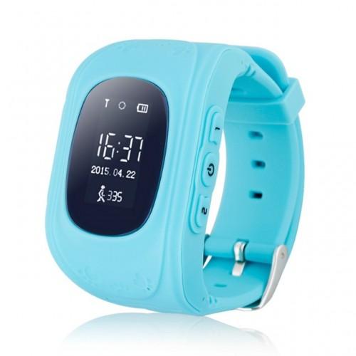Παιδικό ρολόι με ενσωματωμένη συσκευή εντοπισμού GPS και τηλέφωνο Γαλάζιο - OEM Q50