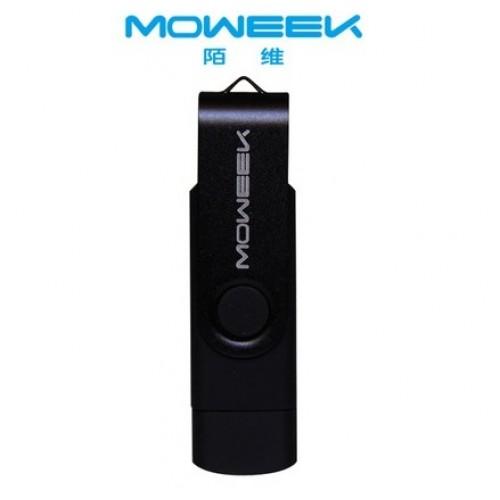 MOWEEK M33 2016  Fashion Metal otg Usb  2.0 Cle Usb 16GB  black