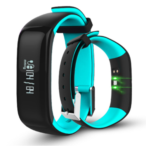 P1 Smartband για Παρακολούθηση αρτηριακή πίεση, βηματόμετρο, καρδιακούς παλμούς για iOS Android Light-blue
