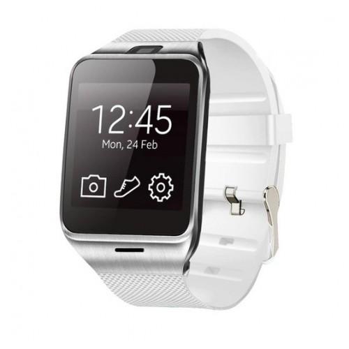 Original GV18 Smartwatch Bluetooth με κάρτα sim - White
