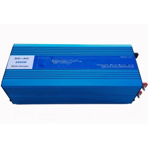 Inverter Καθαρού ημίτονου με φορτιστή και UPS 12V σε 220V 3000W - DX3000PC