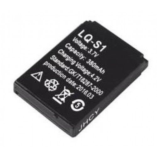 Επαναφορτιζόμενη μπαταρία ιόντων λιθίου LQ-S1 380mAh 3.7V για το DZ09 GV18 GT08 V8 W8 SmartWatch