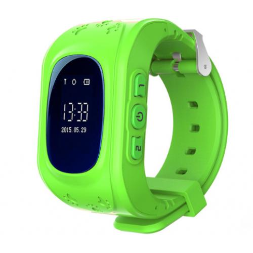 Παιδικό ρολόι με ενσωματωμένη συσκευή εντοπισμού GPS και τηλέφωνο Πράσινο - OEM Q50