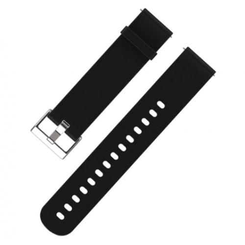 Λουράκι ρολογιού σιλικόνης 20mm. Μαύρο - 1559