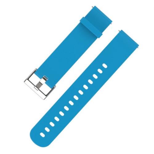 Λουράκι ρολογιού σιλικόνης 20mm. Γαλάζιο - 1560