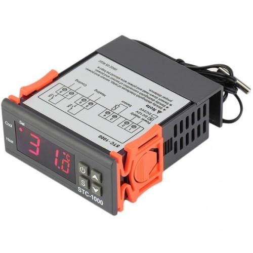 Ψηφιακό θερμόμετρο Controller θερμοκρασίας (θέρμανση - ψύξη) 12V. 10A - STC1000