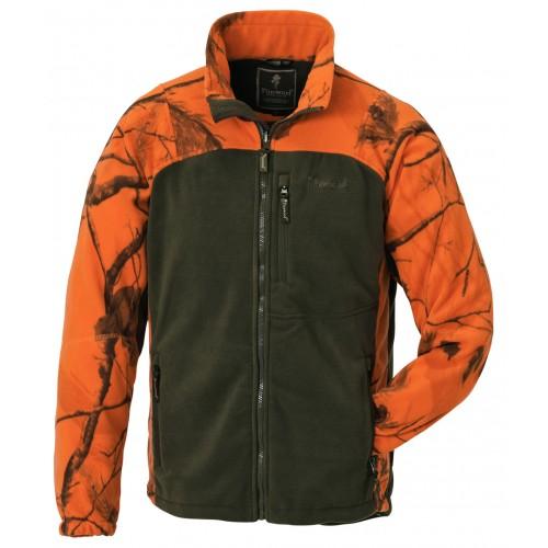 Ζακέτα Fleece PINEWOOD FLEECE JACKET OVIKEN 8761- Χακί-Πορτοκαλί