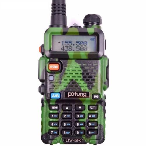 Baofeng UV-5R Camouflage Φορητός dual band πομποδέκτης VHF/UHF έως 5.8W Παραλλαγής & Earphone