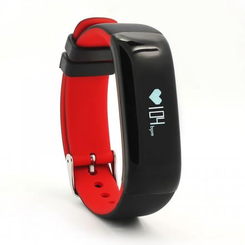 P1 Smartband για Παρακολούθηση αρτηριακή πίεση, βηματόμετρο, καρδιακούς παλμούς για iOS Android