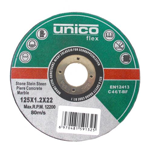 Τροχός δίσκος κοπής πέτρα Unico Flex Φ180Χ2.5