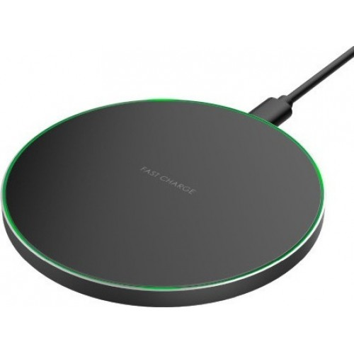 Haitronic USB Wireless Charging Pad (Qi) Μαύρο (HS1063 10W)