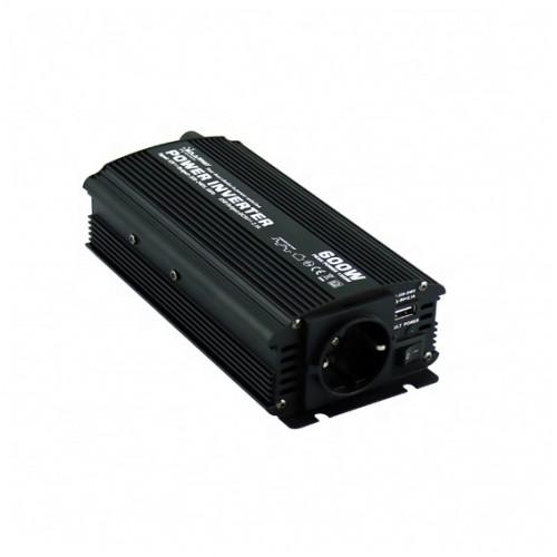 Μετατροπέας Inverter τροποποιημένου ημιτόνου 600W 12V DC σε 220V AC - Solarvertech NM600