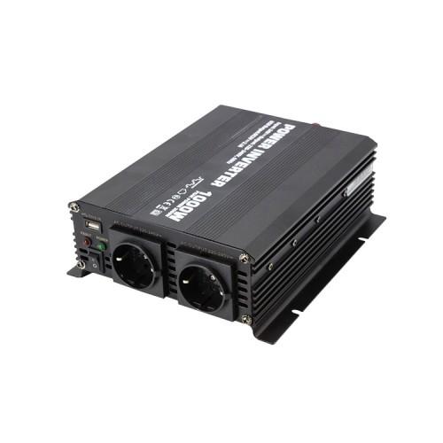 Μετατροπέας Inverter τροποποιημένου ημιτόνου 1000W 12V DC σε 220V AC - Solarvertech NM1K