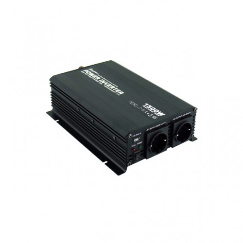 Μετατροπέας Inverter τροποποιημένου ημιτόνου 1500W 12V DC σε 220V AC - Solarvertech NM1.5K