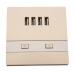Πρίζα τοίχου με 4 USB θύρες 3000mA - OEM YSS012