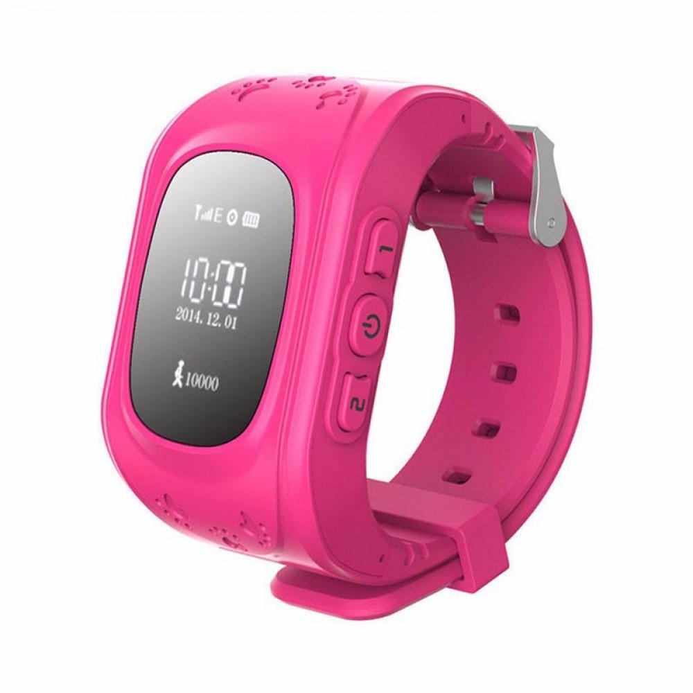 Παιδικό ρολόι με ενσωματωμένη συσκευή εντοπισμού GPS και τηλέφωνο Ροζ - OEM  Q50 b56d0f80d73