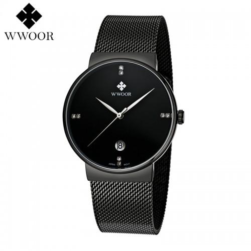 Ανδρικό ρολόι χειρός Μαύρο - WWOOR 8018
