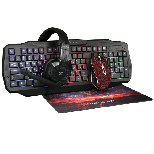 XTRIKE-ME CM-400 Σετ. 4 τεμ. Ενσύρματο + Πληκτρολόγιο + Ποντίκι + Ακουστικά + Mouse pad