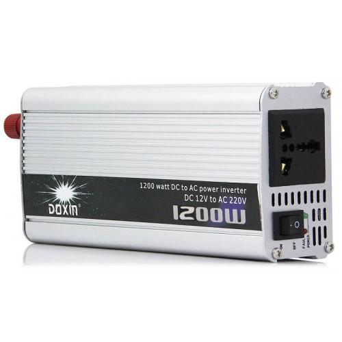 Inverter αυτοκινήτου 12V σε 220V 1200W + USB - DOXIN DXP-1200H