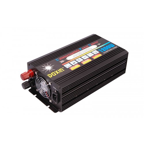 Inverter τροποποιημένου ημιτόνου με φορτιστή και UPS 12V σε 220V 1200W - DOXIN DXP-1200WUPS