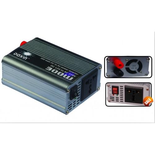 Inverter αυτοκινήτου 12V σε 220V 300W + USB - DOXIN DXP-300H